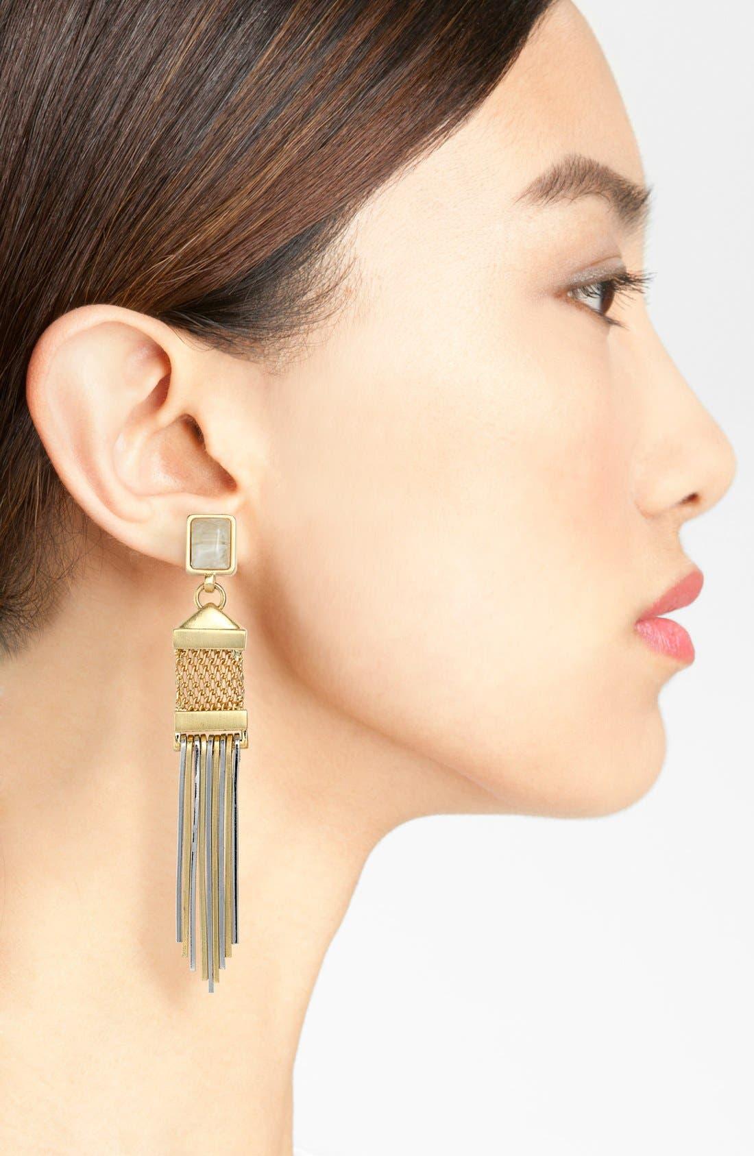 Alternate Image 2  - Vince Camuto 'Classic Maya' Linear Earrings
