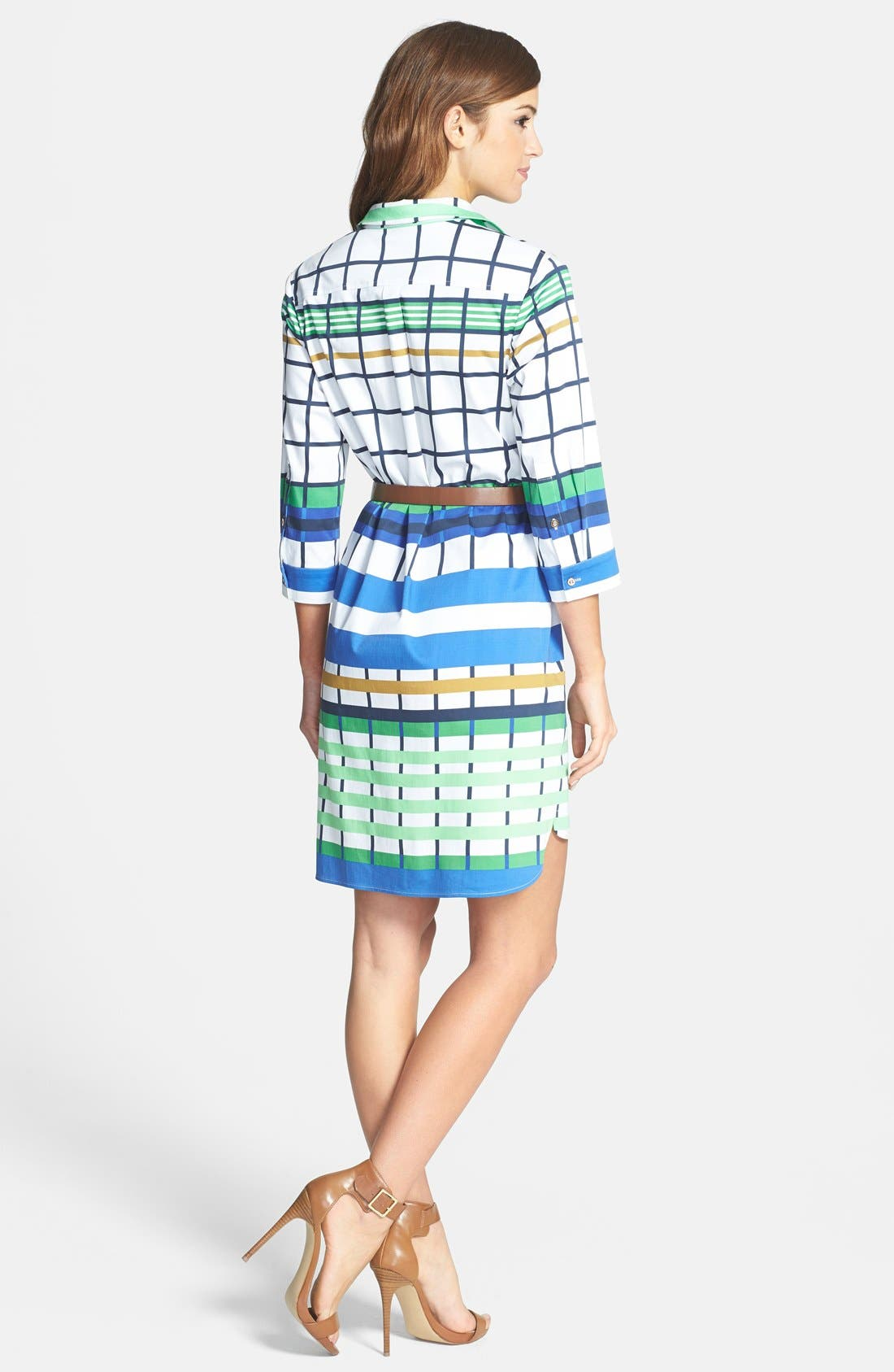 Alternate Image 2  - Donna Morgan Check Print Shirtdress
