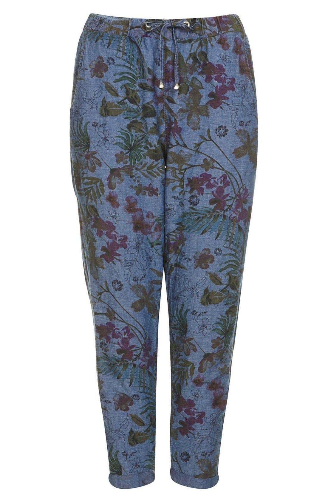 Alternate Image 3  - Topshop Moto Floral Print Jogger Pants
