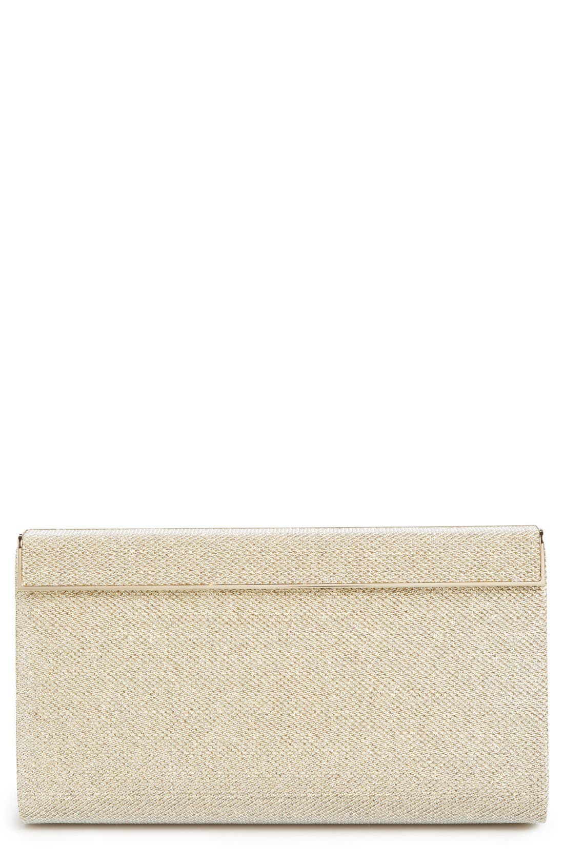 Alternate Image 1 Selected - Jimmy Choo 'Cayla' Lamé Glitter Clutch