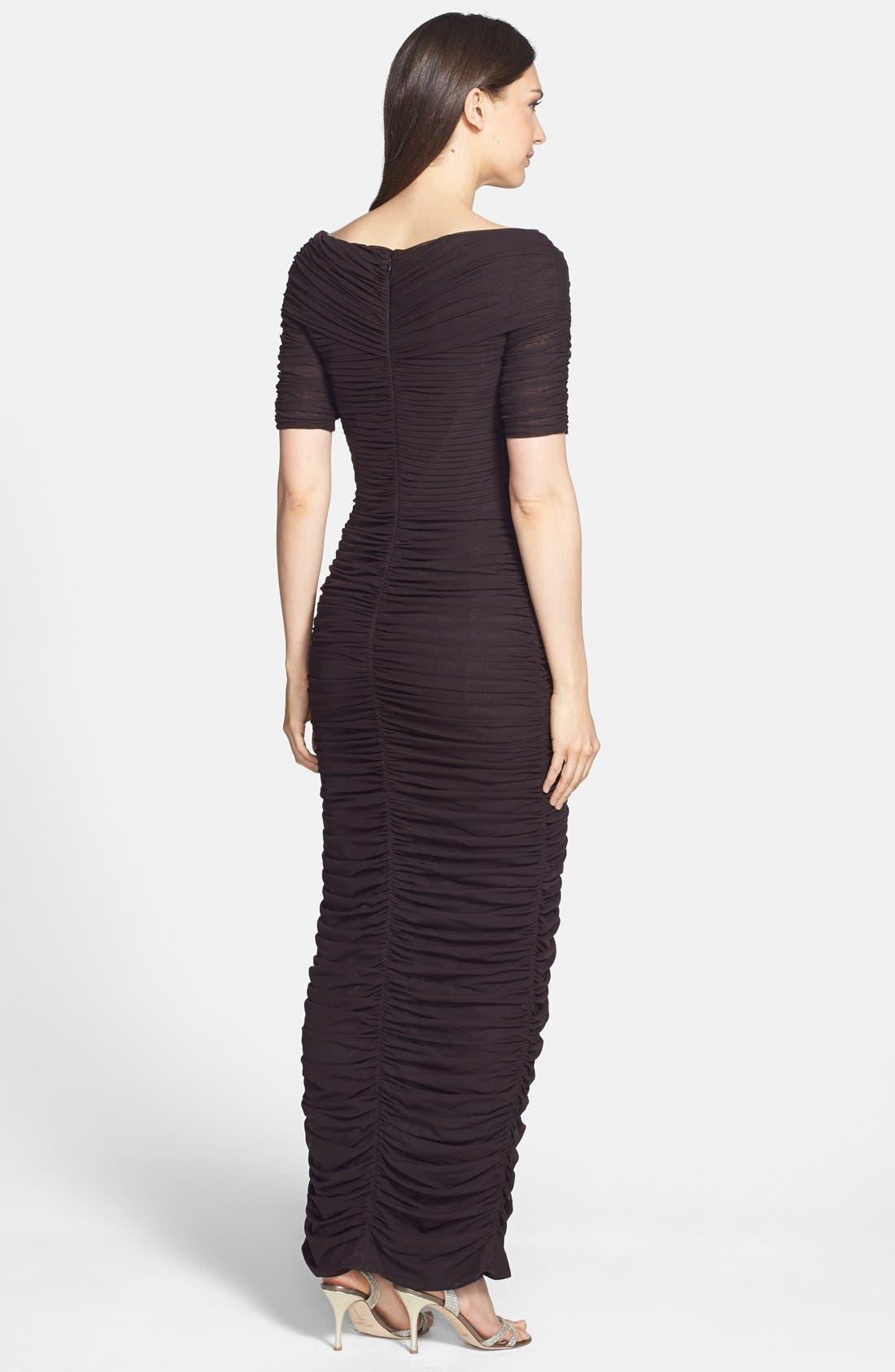 Alternate Image 2  - Daymor '8031' Ruched Elbow Sleeve Dress