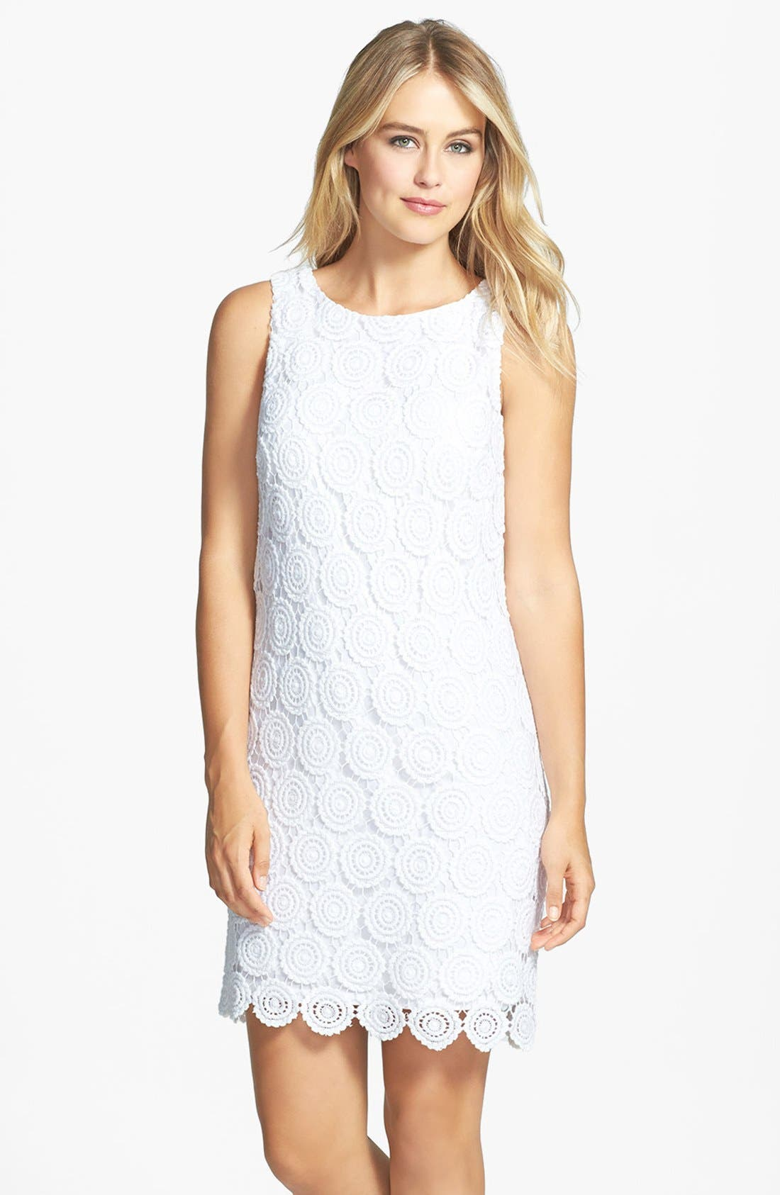 Alternate Image 1 Selected - Eliza J Eyelet Lace Shift Dress