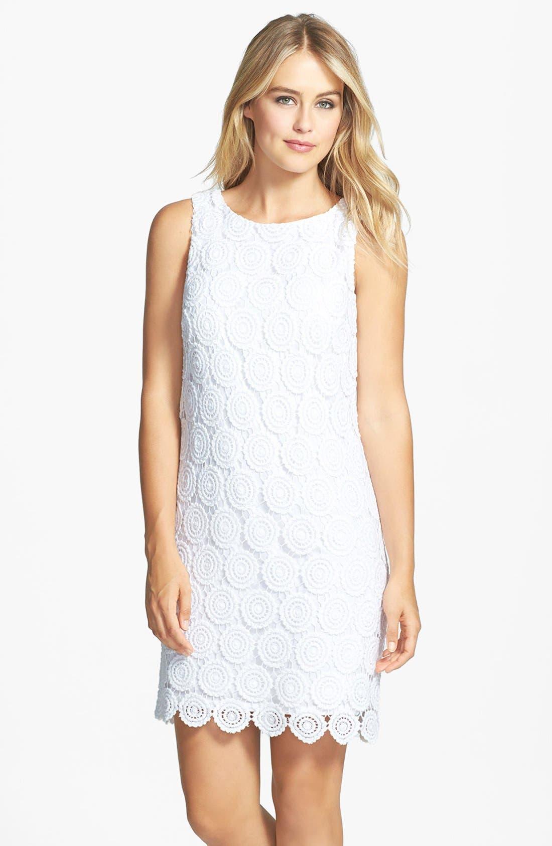 Main Image - Eliza J Eyelet Lace Shift Dress