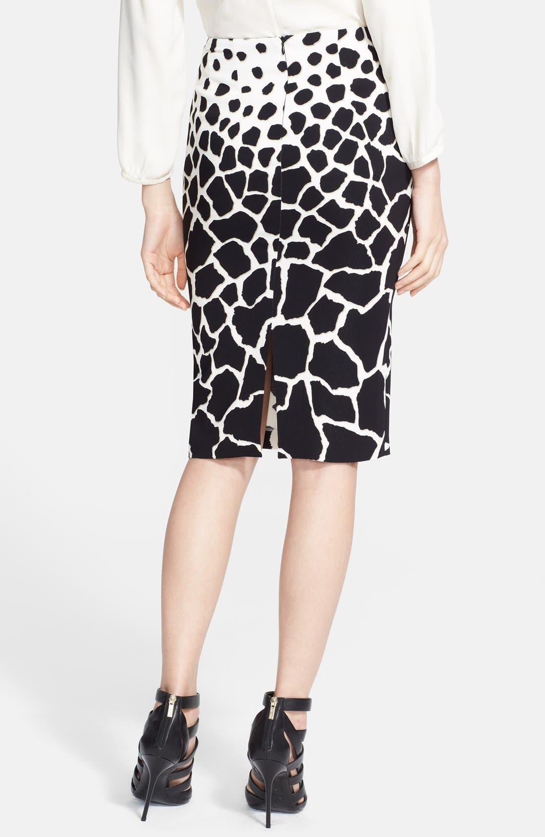 Alternate Image 2  - Roberto Cavalli Animal Print Cady Pencil Skirt