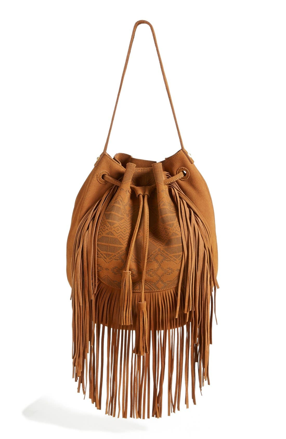 Alternate Image 1 Selected - Steve Madden Fringed Shoulder Bag