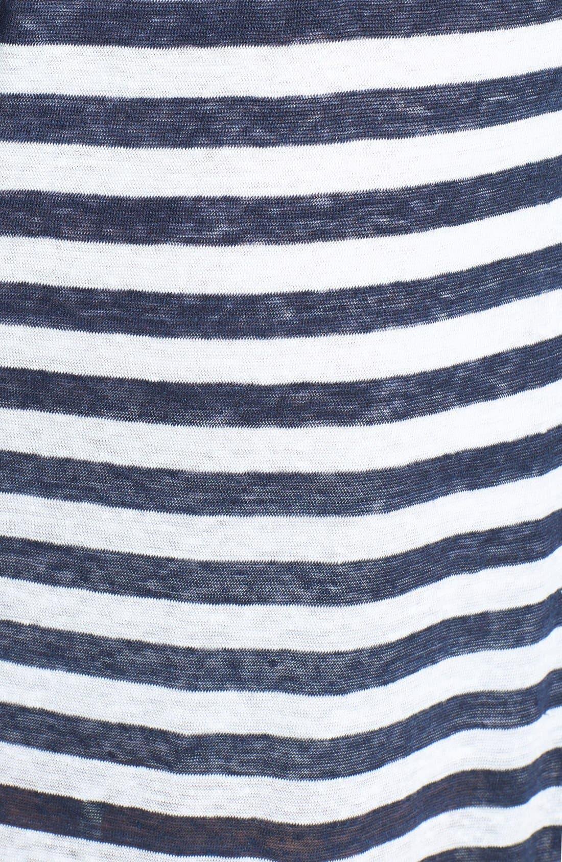 Alternate Image 3  - C & C California Stripe Linen Jersey Maxi Dress