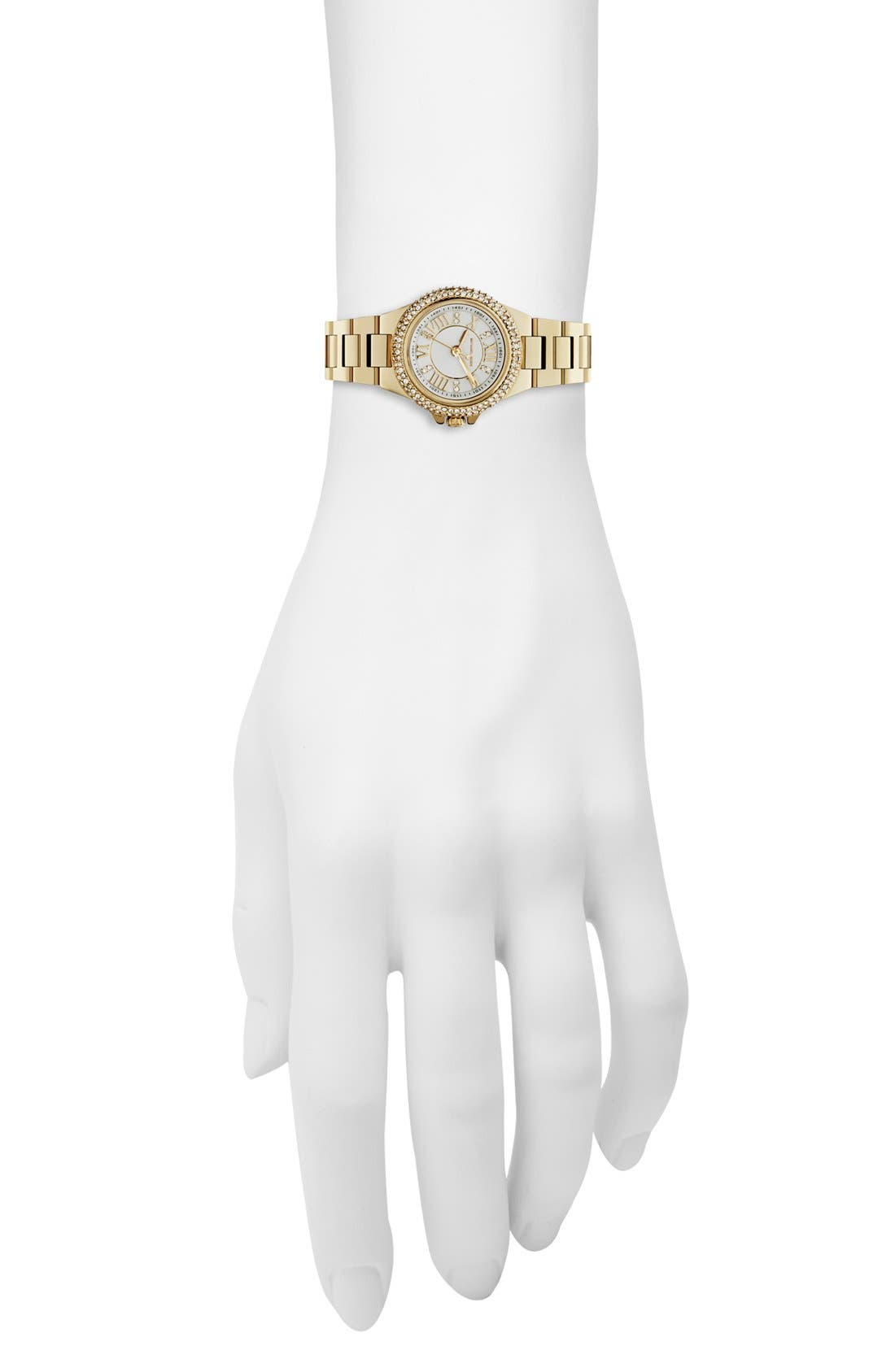 Alternate Image 4  - Michael Kors 'Mini Camille' Pavé Bezel Bracelet Watch, 26mm
