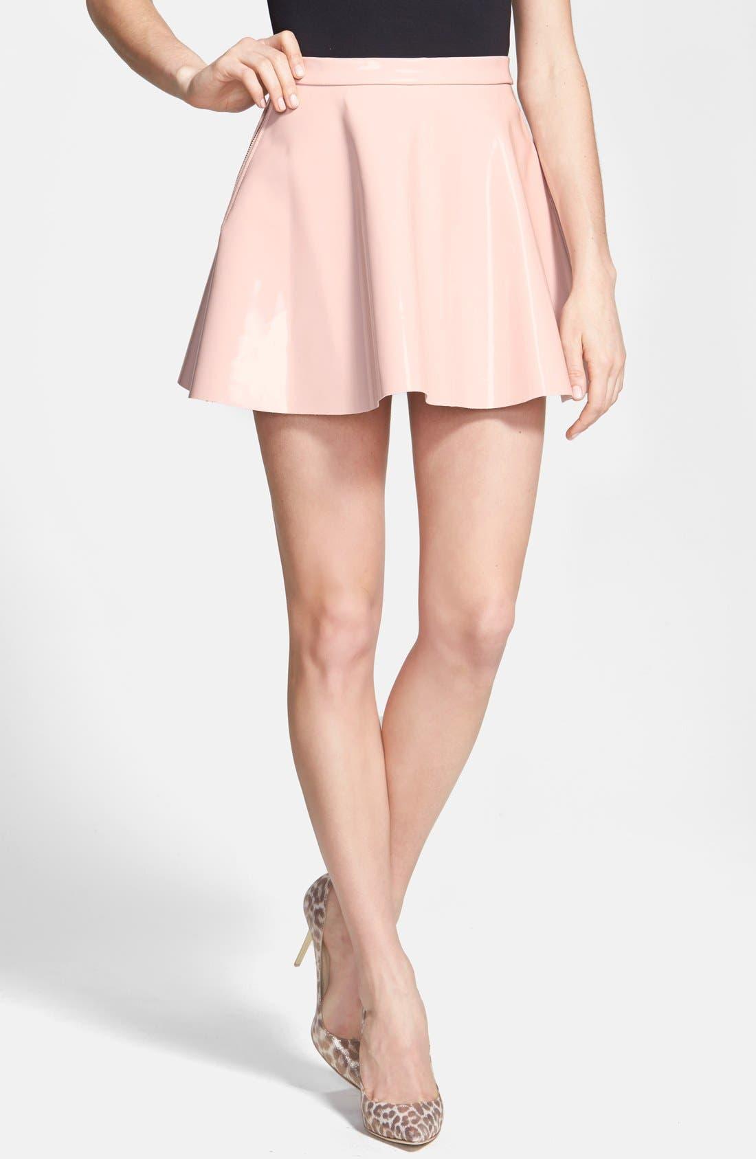 Alternate Image 1 Selected - Glamorous Vinyl Skater Skirt