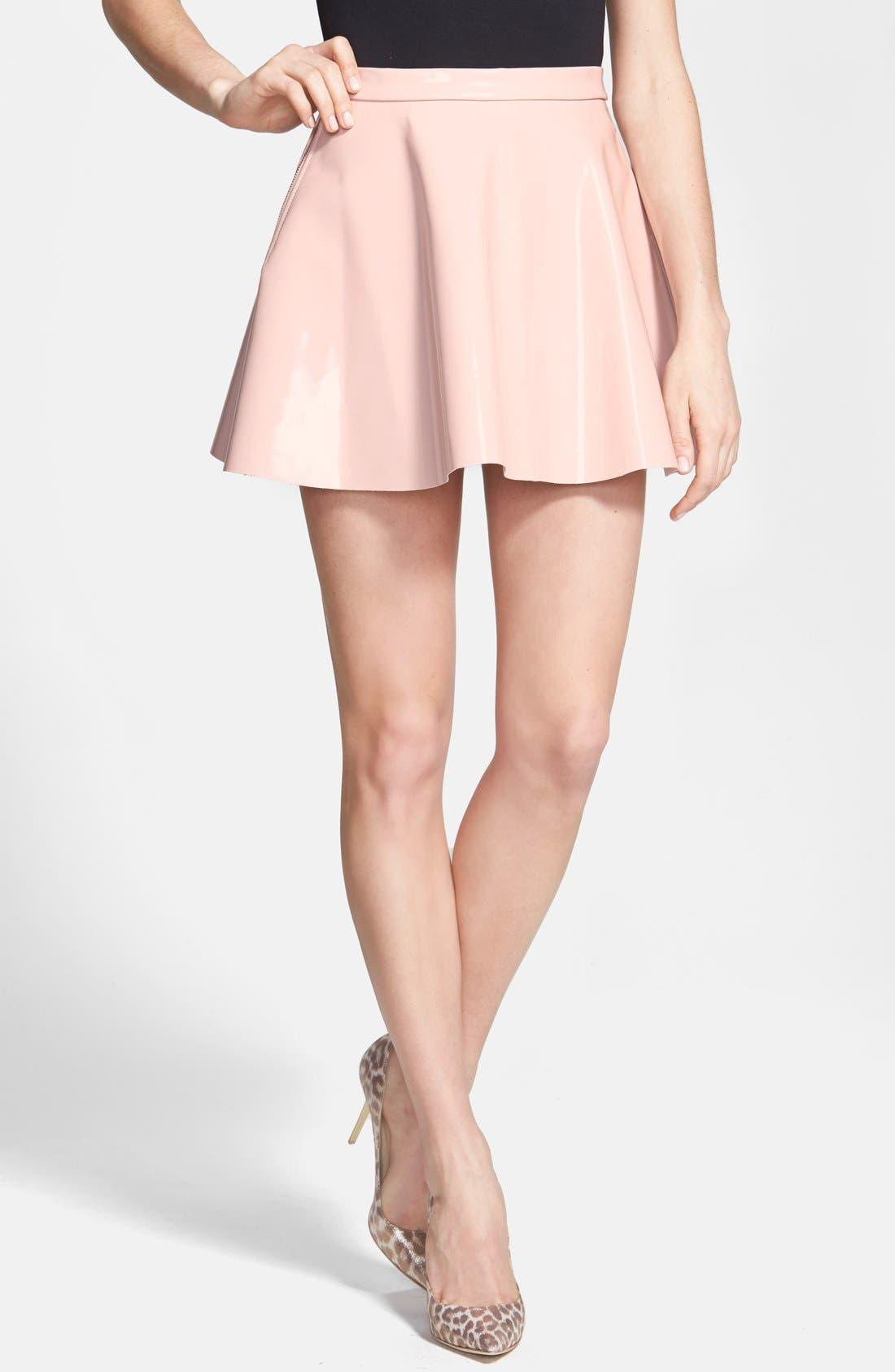 Main Image - Glamorous Vinyl Skater Skirt