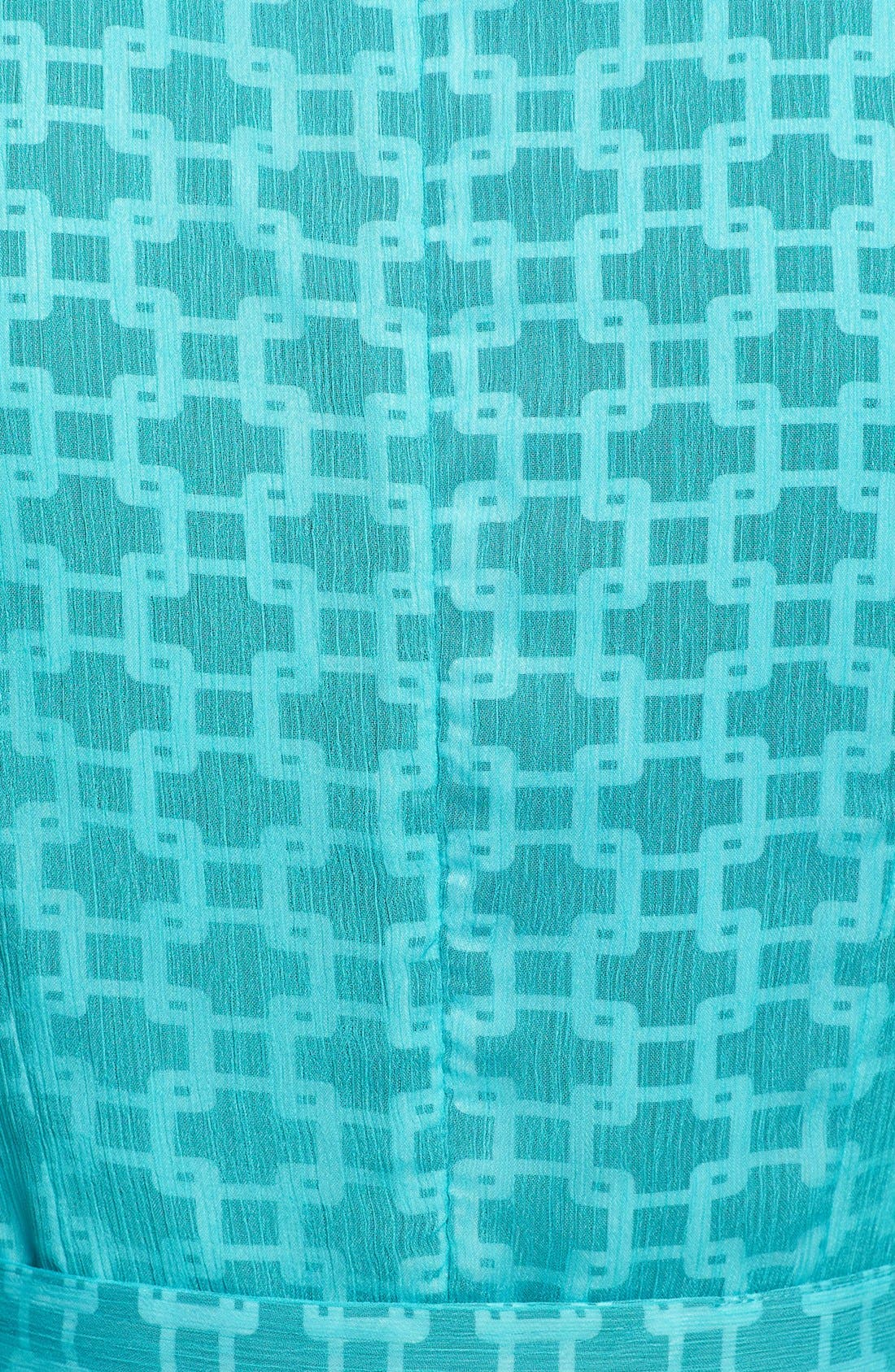 Alternate Image 3  - Isaac Mizrahi New York Print Chiffon Fit & Flare Dress (Petite)