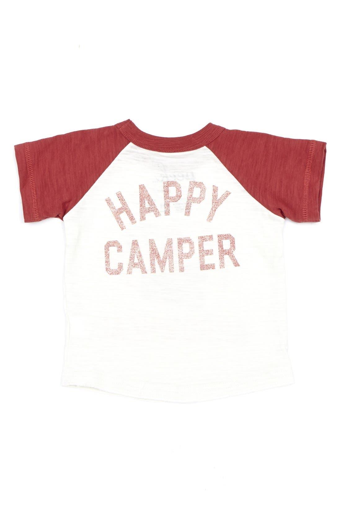 Alternate Image 2  - Peek 'Happy Camper' Raglan Sleeve Slub Cotton T-Shirt (Baby Boys)
