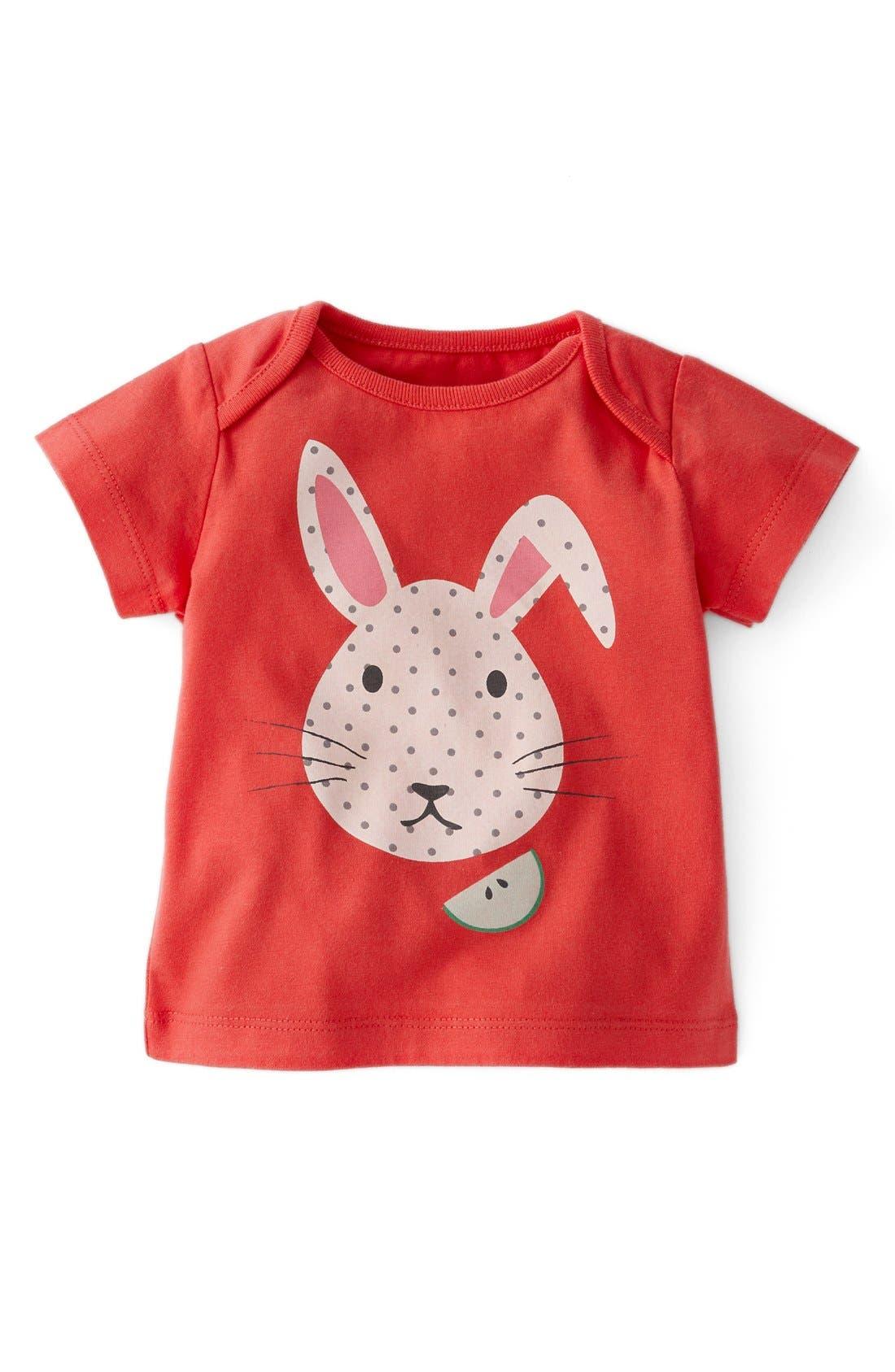 Alternate Image 1 Selected - Mini Boden 'Animal Friends' T-Shirt (Baby Girls)