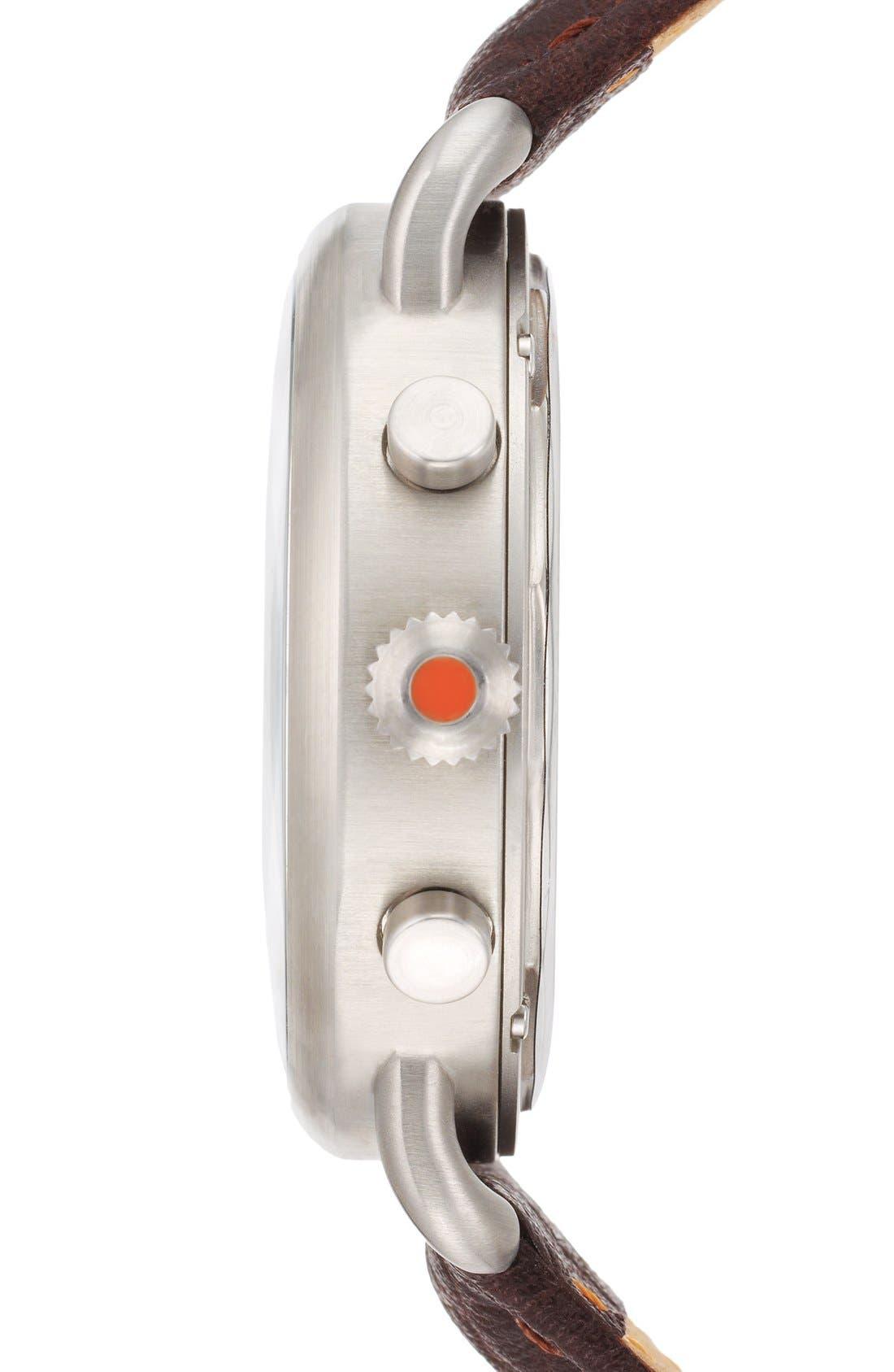Alternate Image 3  - Jack Spade 'Frasier' Chronograph Leather Strap Watch, 42mm