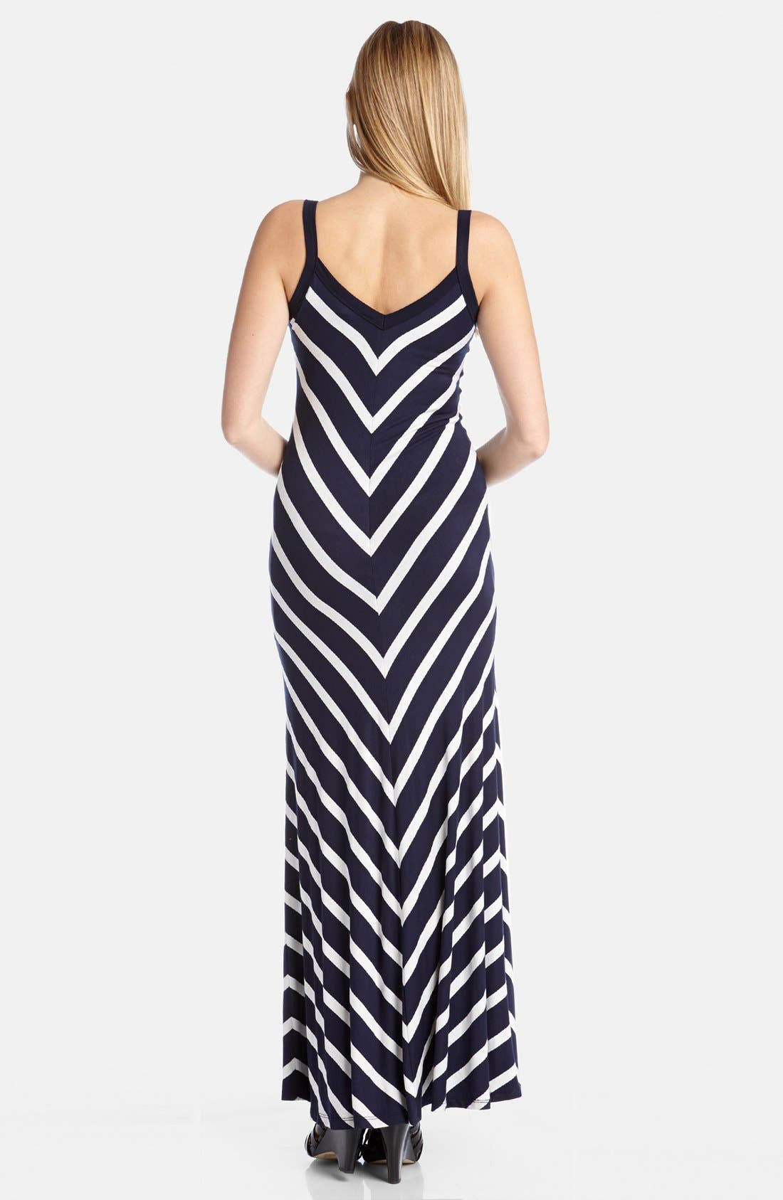 Alternate Image 2  - Karen Kane Mitered Stripe Maxi Dress