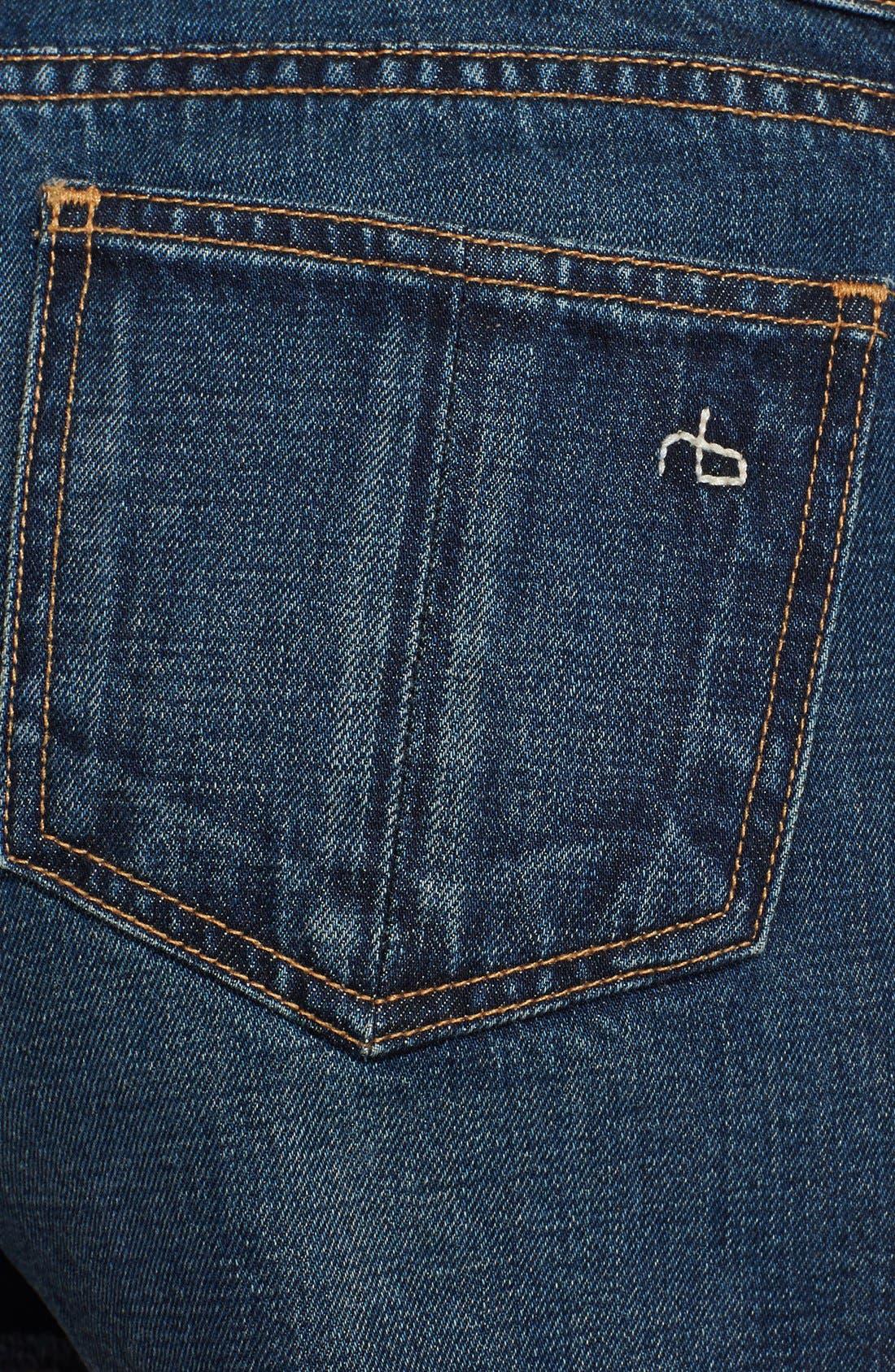 Alternate Image 3  - rag & bone/JEAN 'The Mila' Denim Cutoff Shorts (Doheny)