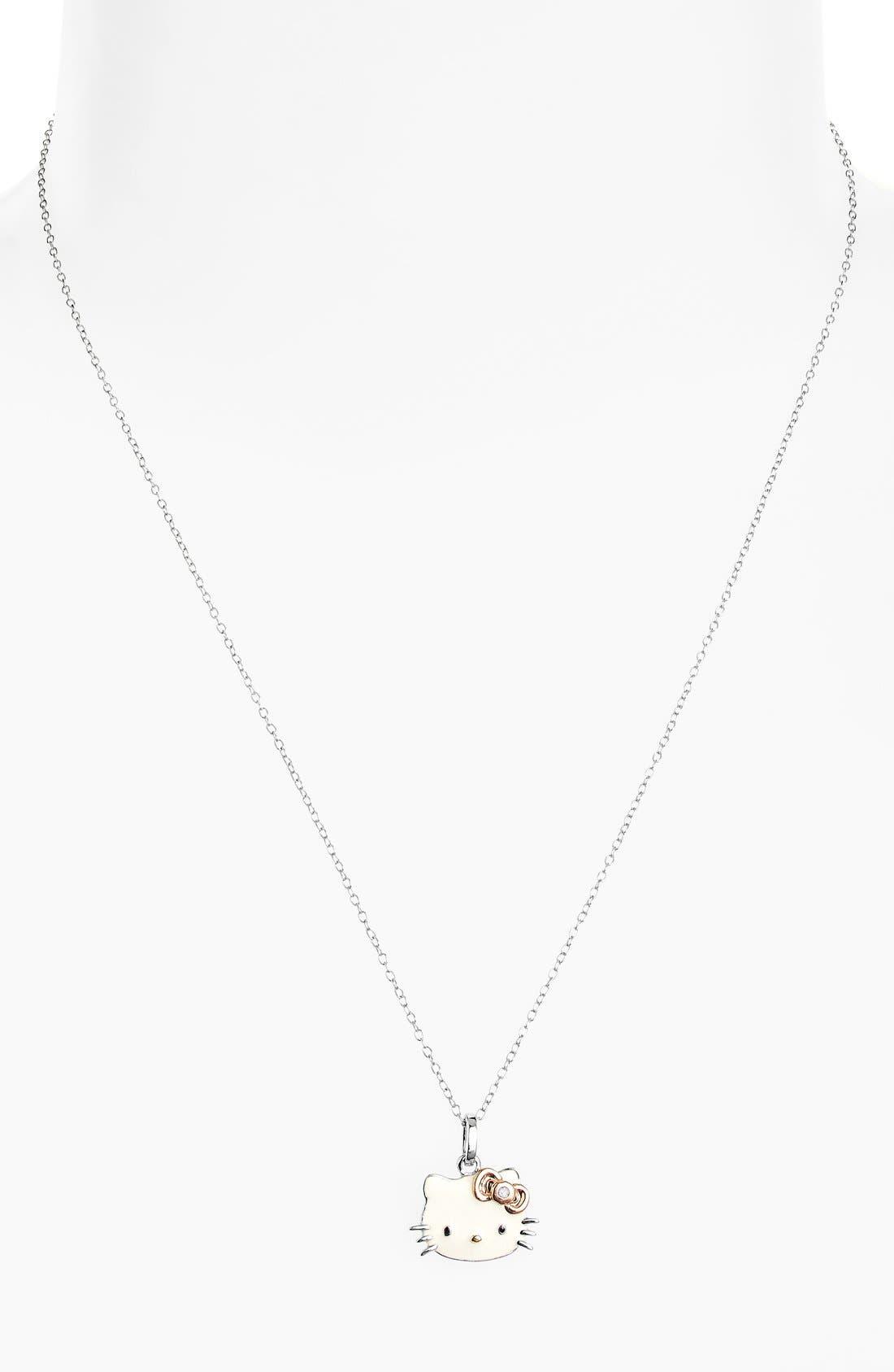 Alternate Image 2  - Hello Kitty® Diamond Pendant Necklace (Nordstrom Exclusive)
