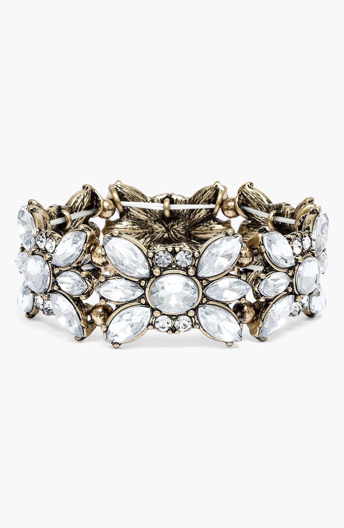 Main Image - BaubleBar Crystal Stretch Bracelet