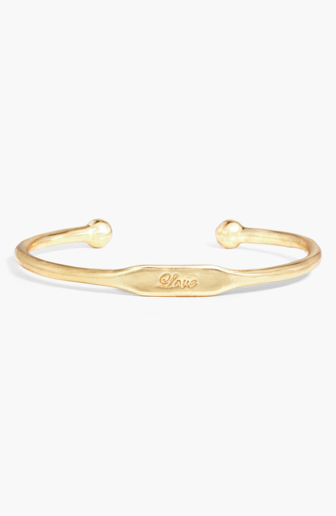 Alternate Image 1 Selected - BaubleBar 'Love' Inscription Cuff (Online Only)