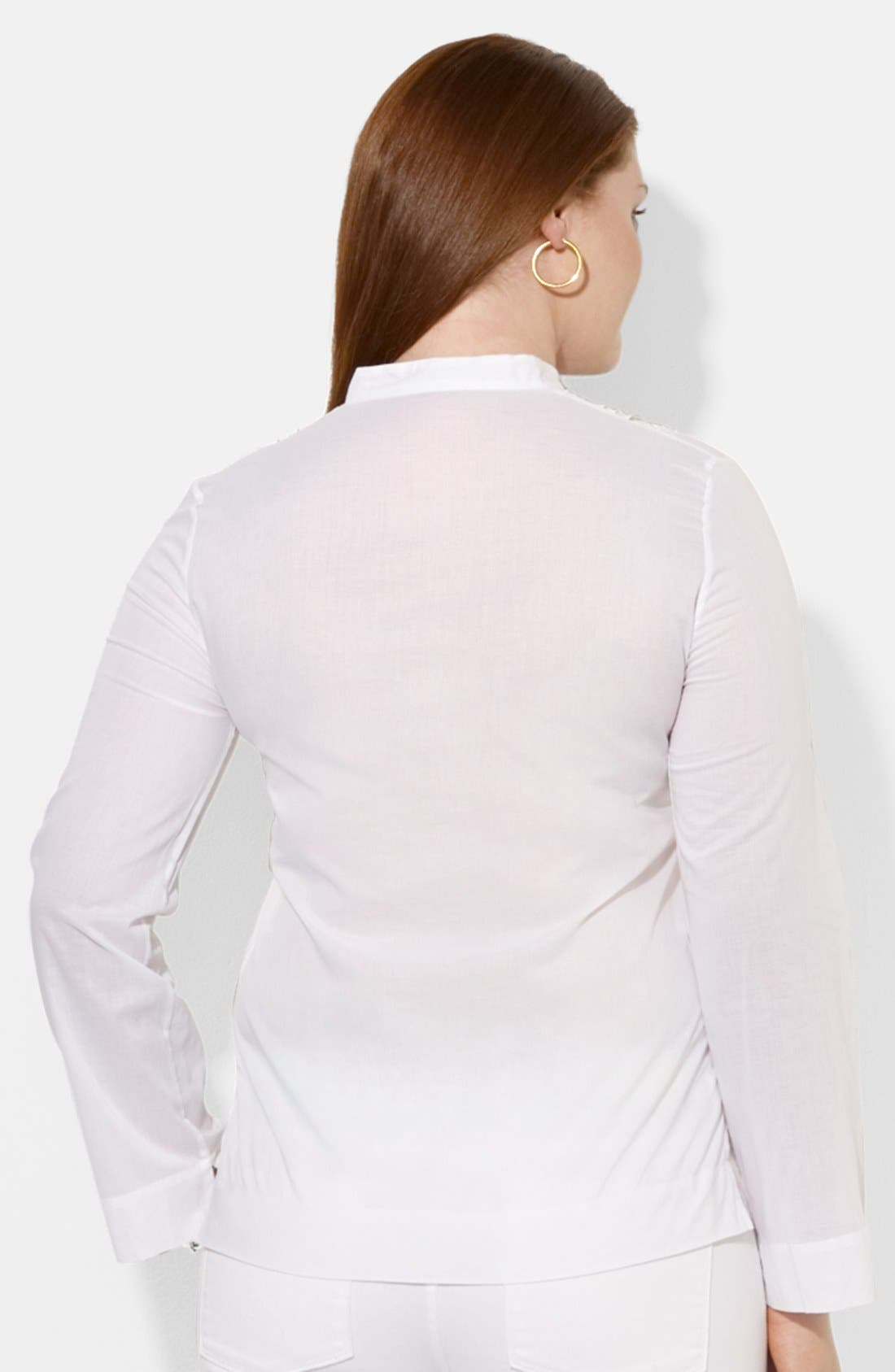 Alternate Image 2  - Lauren Ralph Lauren Embroidered Blouse (Plus Size)