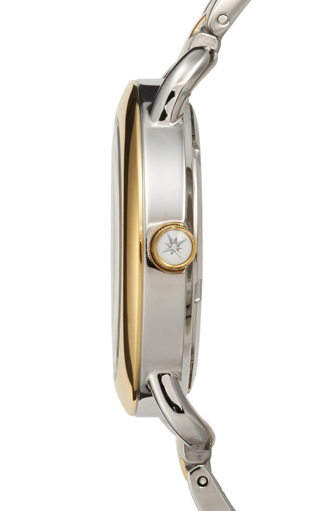 Alternate Image 3  - Sperry Top-Sider® 'Hayden' Crystal Accent Two-Tone Bracelet Watch, 36mm