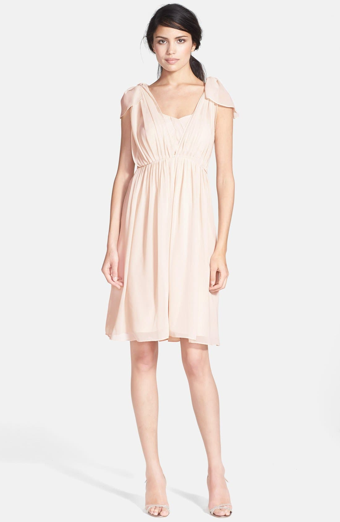Alternate Image 5  - Jenny Yoo 'Keira' Convertible Strapless Chiffon Dress