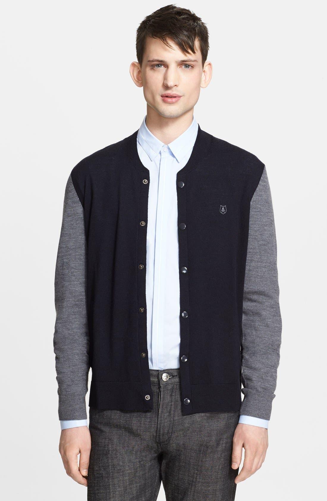 Alternate Image 1 Selected - The Kooples Merino Wool Bomber Cardigan
