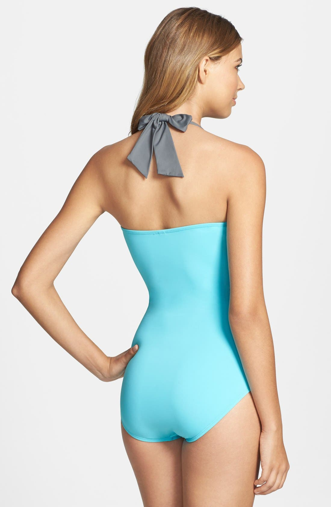 Alternate Image 2  - Tommy Bahama 'Deck Piping' Shirred One-Piece Swimsuit