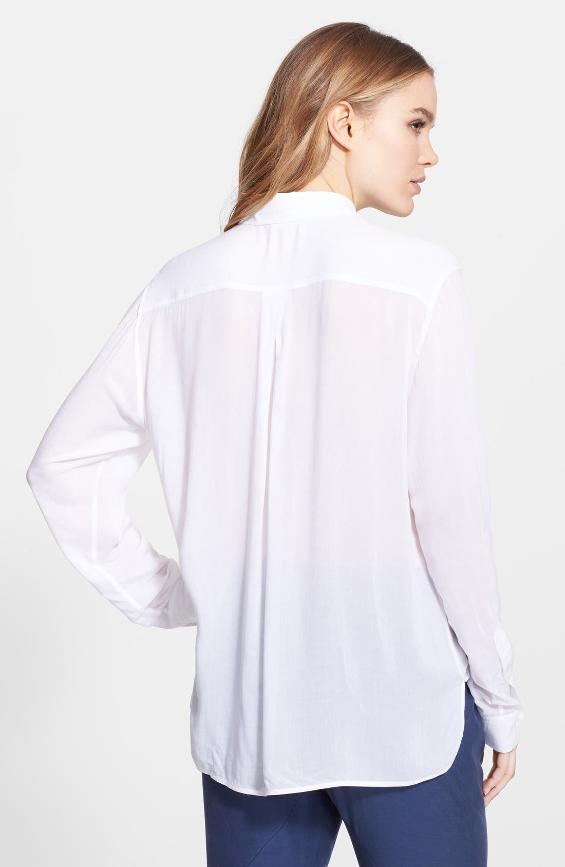 Alternate Image 2  - Vince Long Sleeve Button Front Shirt