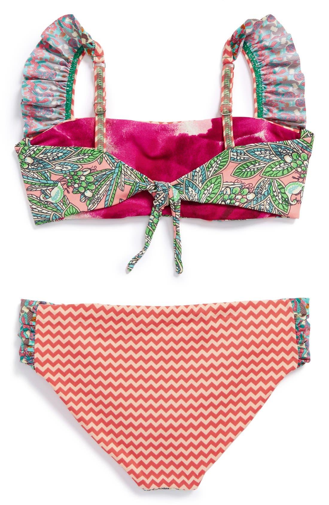 Alternate Image 2  - Maaji 'Coral Waves' Two-Piece Swimsuit (Big Girls)