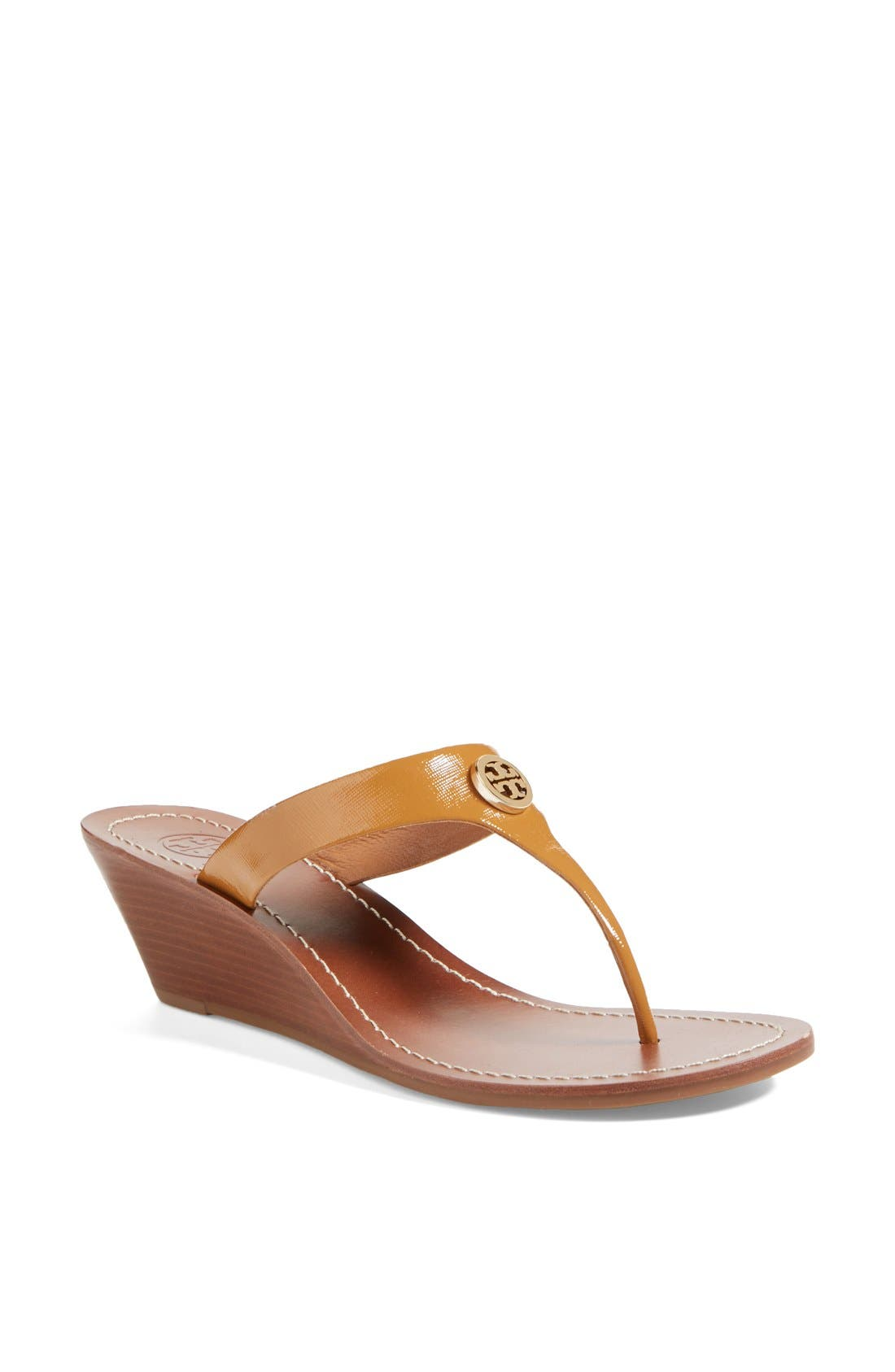 Alternate Image 1 Selected - Tory Burch 'Cameron' Wedge Sandal (Online Only)