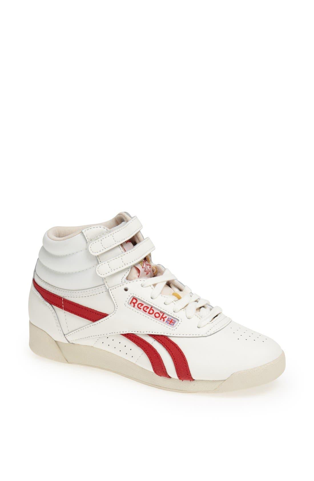 Alternate Image 1 Selected - Reebok 'Freestyle Hi - Vintage' Sneaker (Women)