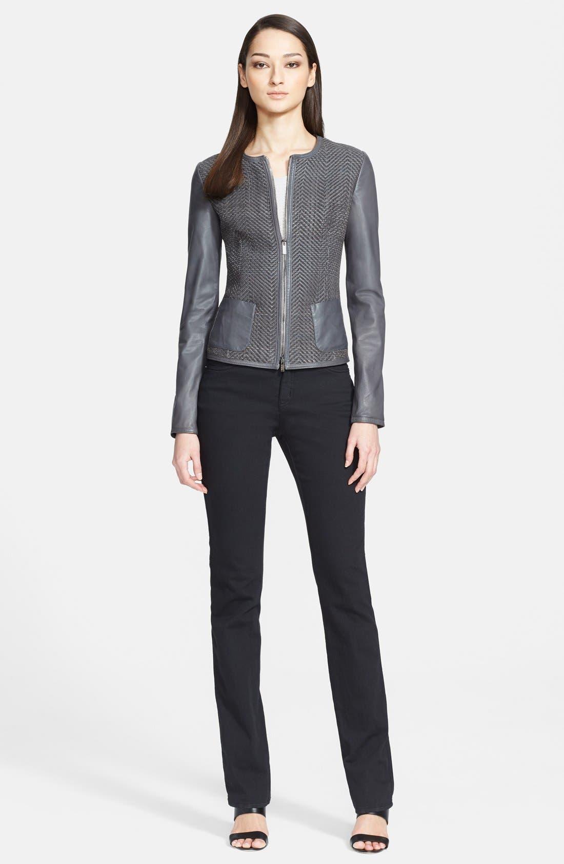 Alternate Image 3  - Armani Collezioni Hand Woven Leather Jacket
