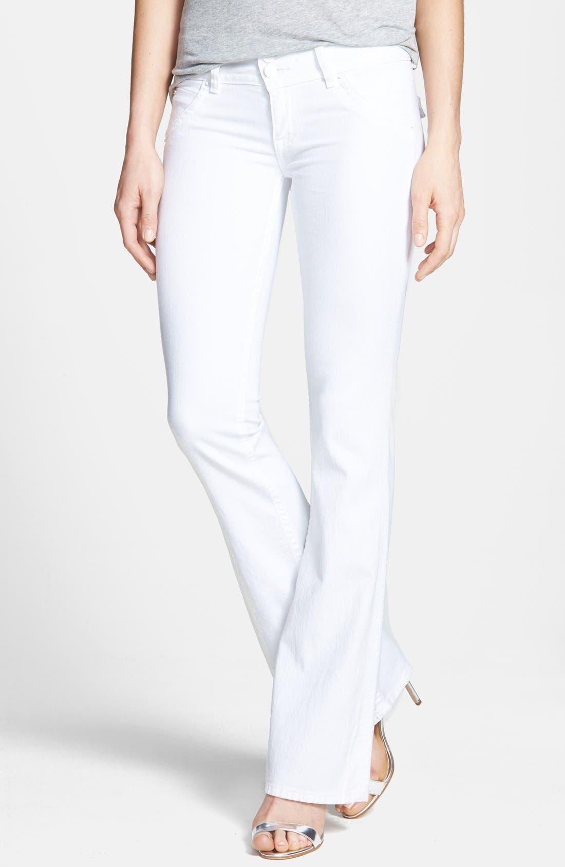 Main Image - Hudson Jeans Signature Flap Pocket Bootcut Stretch Jeans (White)