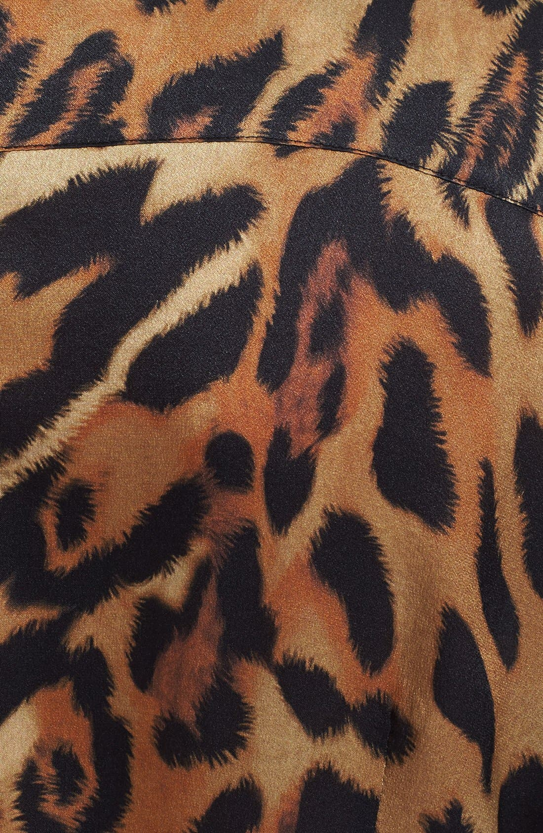 Alternate Image 4  - ESCADA Leopard Print Ruffled Silk Blouse