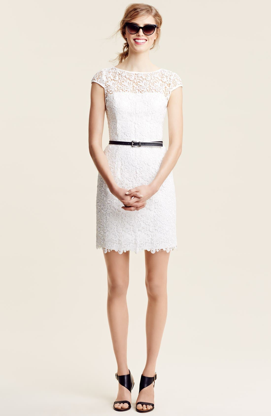 Alternate Image 6  - Adrianna Papell Lace Shift Dress