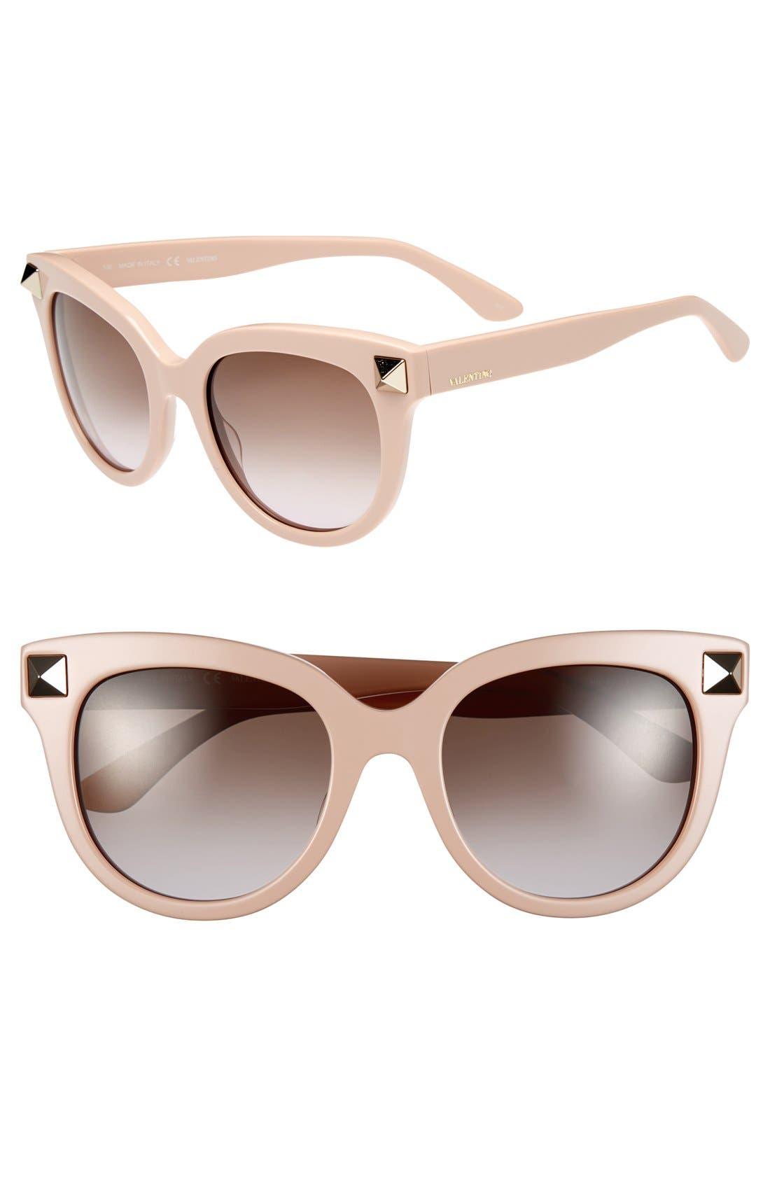 Main Image - Valentino 'Rockstud' 52mm Studded Sunglasses