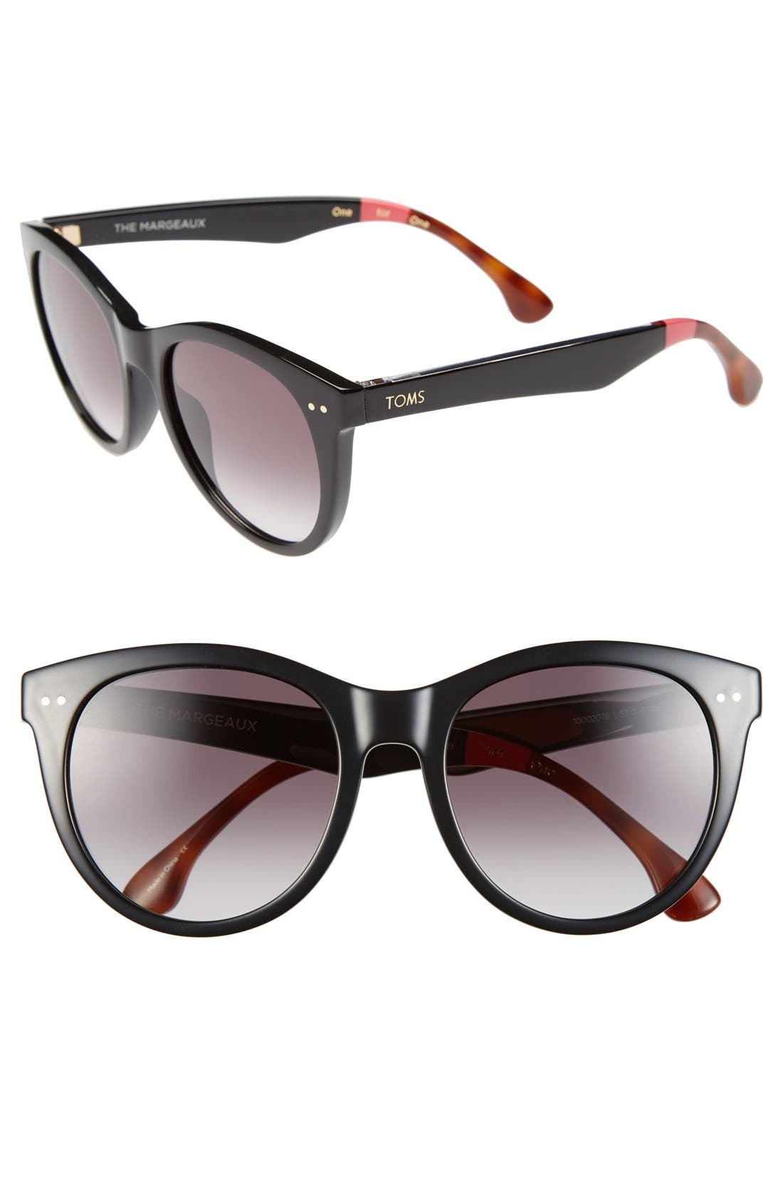Main Image - TOMS 'Margeaux' 53mm Sunglasses