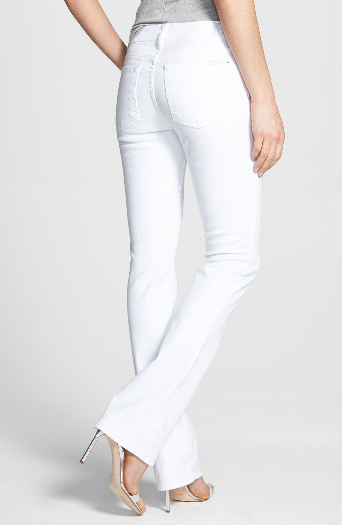 Alternate Image 2  - 7 For All Mankind® Slim Bootcut Jeans (Clean White)