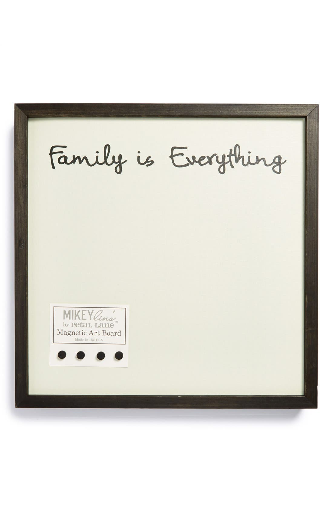 Alternate Image 1 Selected - Petal Lane 'Family Is Everything' Medium Magnet Board