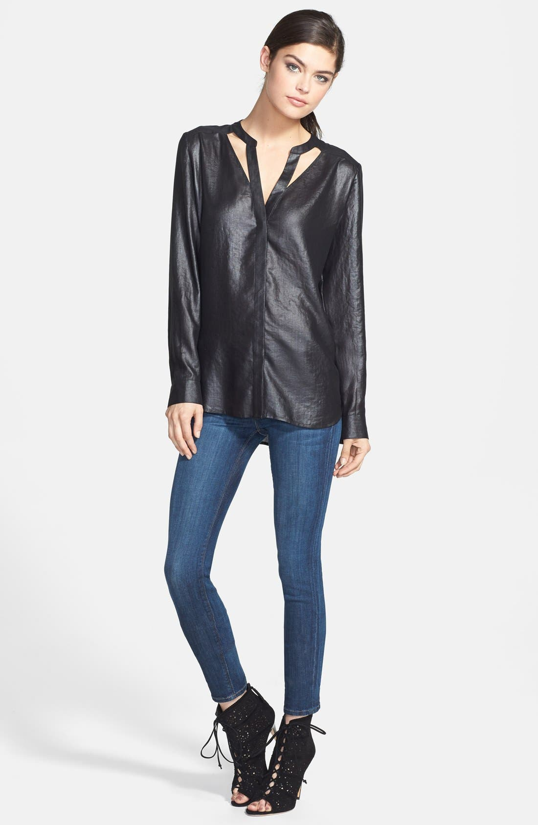 Alternate Image 9  - Hudson Jeans 'Collette' Skinny Jeans (Cascade) (Nordstrom Exclusive)