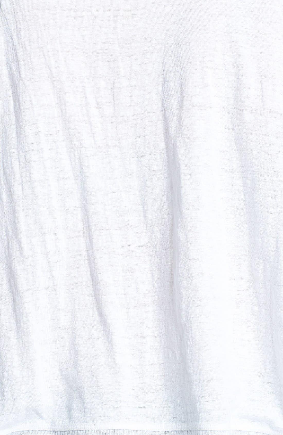 Alternate Image 3  - Eileen Fisher Organic Linen Jersey Bateau Top (Plus Size)