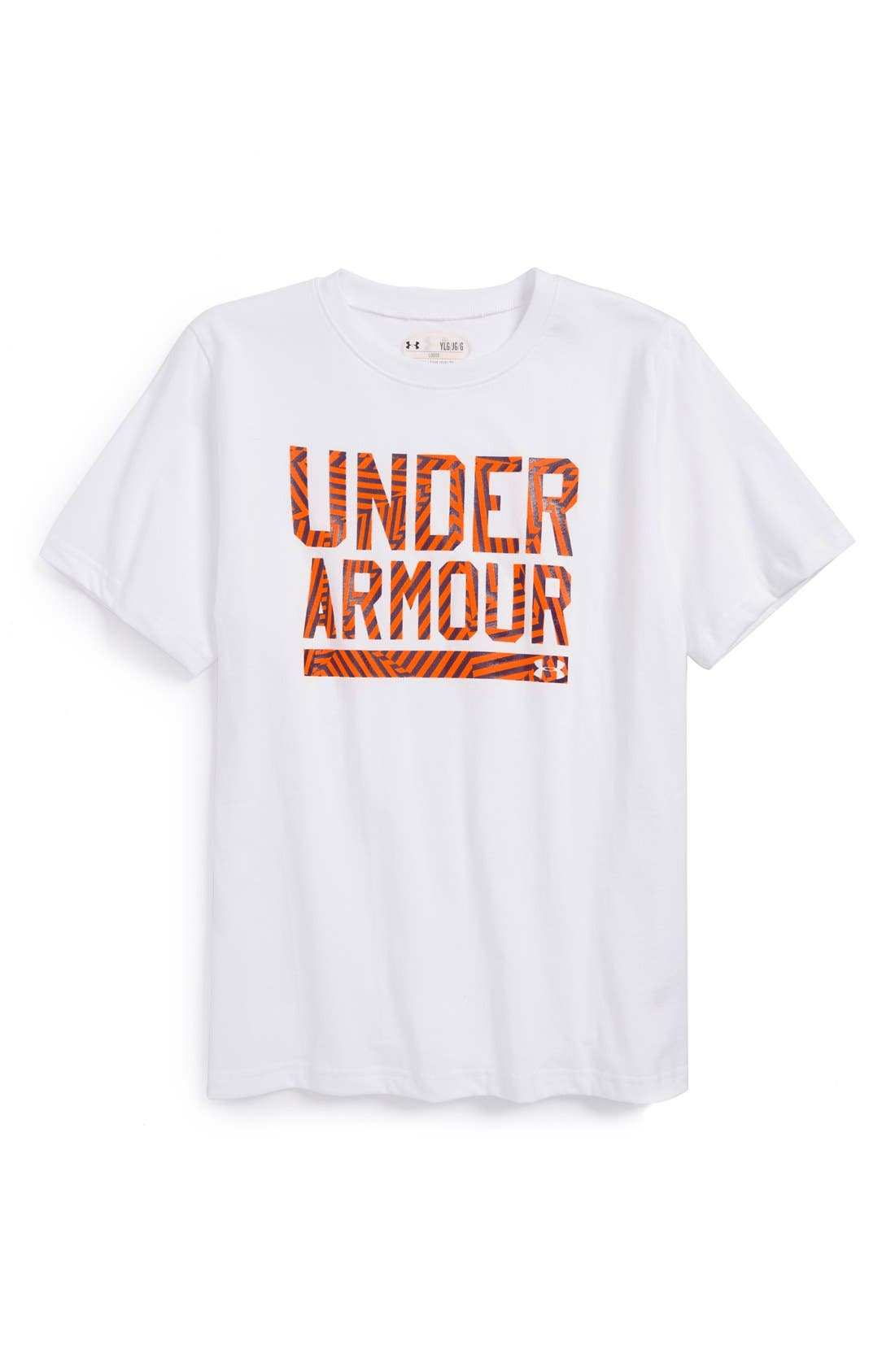 Main Image - Under Armour Charged Cotton® T-Shirt (Big Boys)