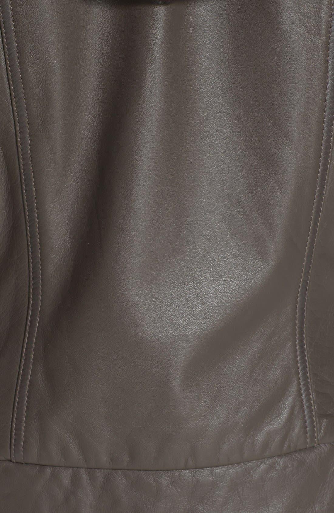 Alternate Image 3  - Caslon® Hooded Leather Jacket