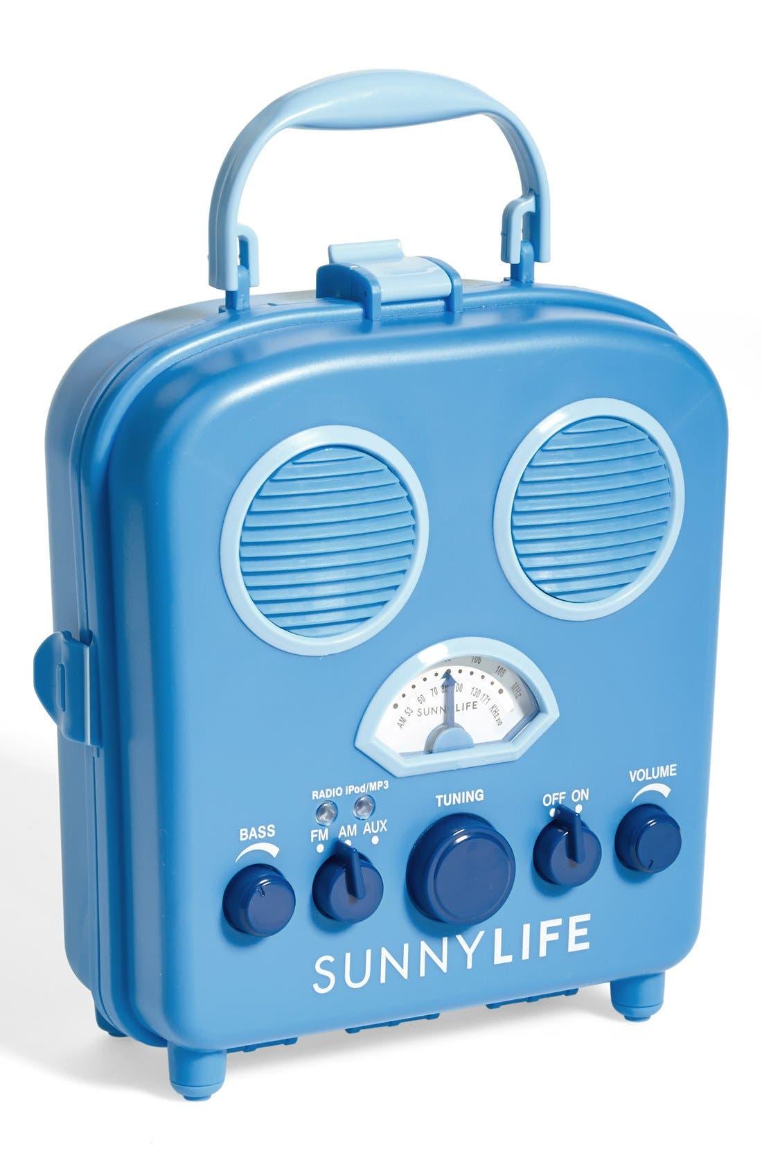 Main Image - Sunnylife 'Beach Sounds' Portable Water Resistant Speaker & Radio