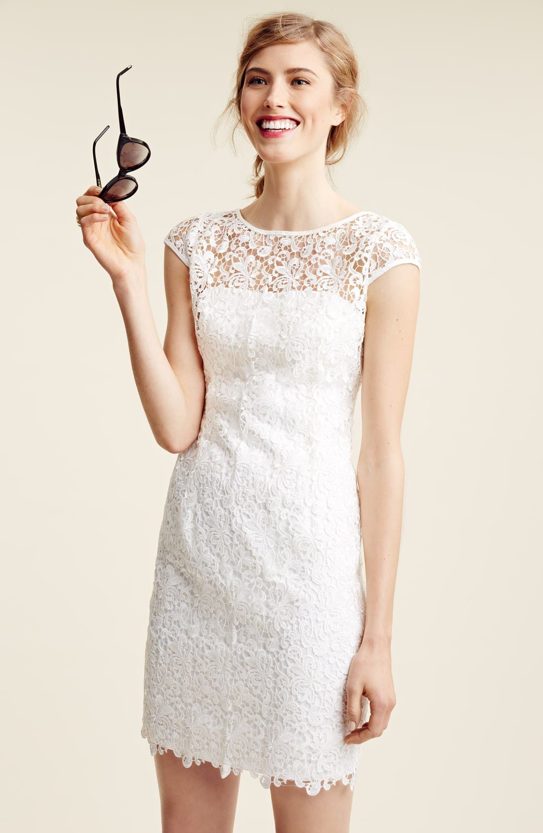 Alternate Image 4  - Adrianna Papell Lace Shift Dress