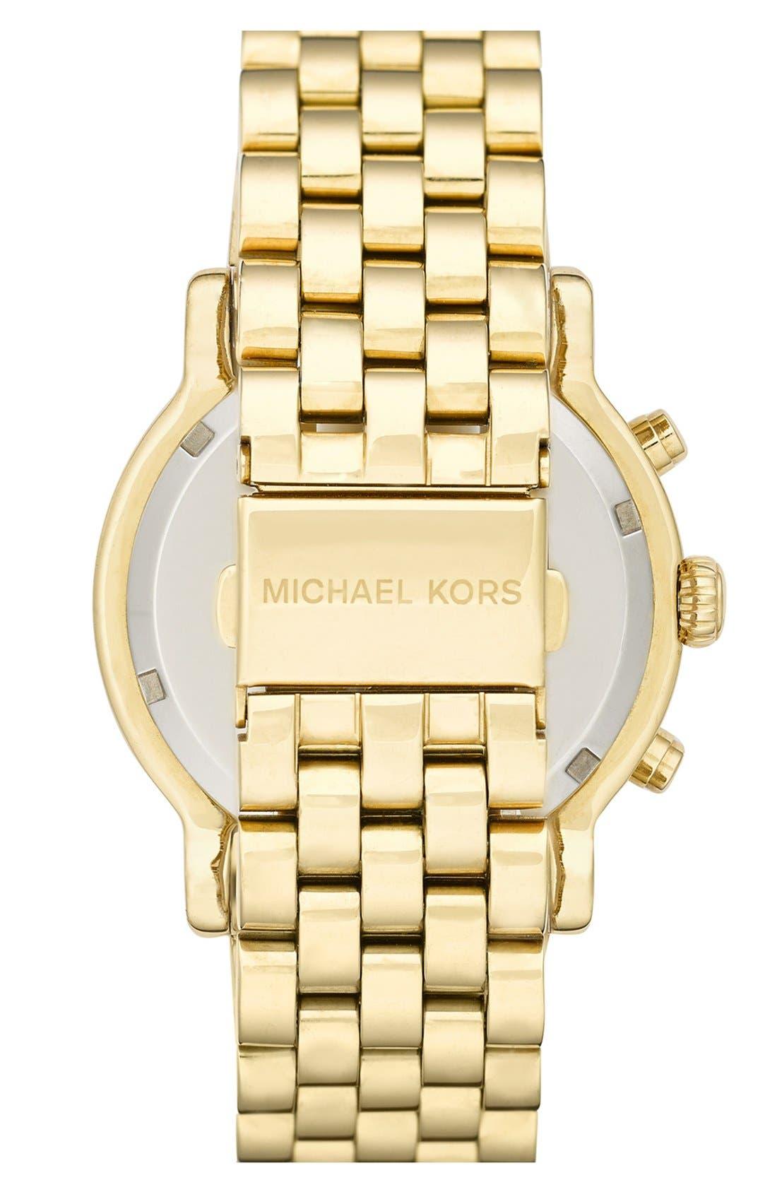 Alternate Image 2  - Michael Kors 'Baisley' Crystal Bezel Chronograph Bracelet Watch, 41mm (Nordstrom Exclusive)