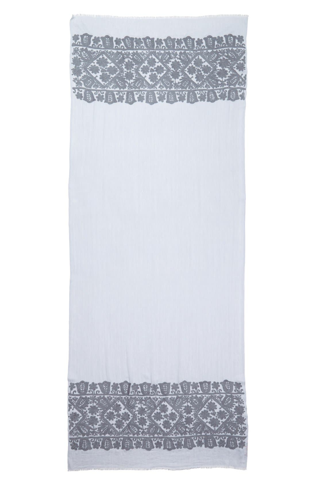 Alternate Image 2  - Tory Burch 'Silesa' Embroidered Scarf