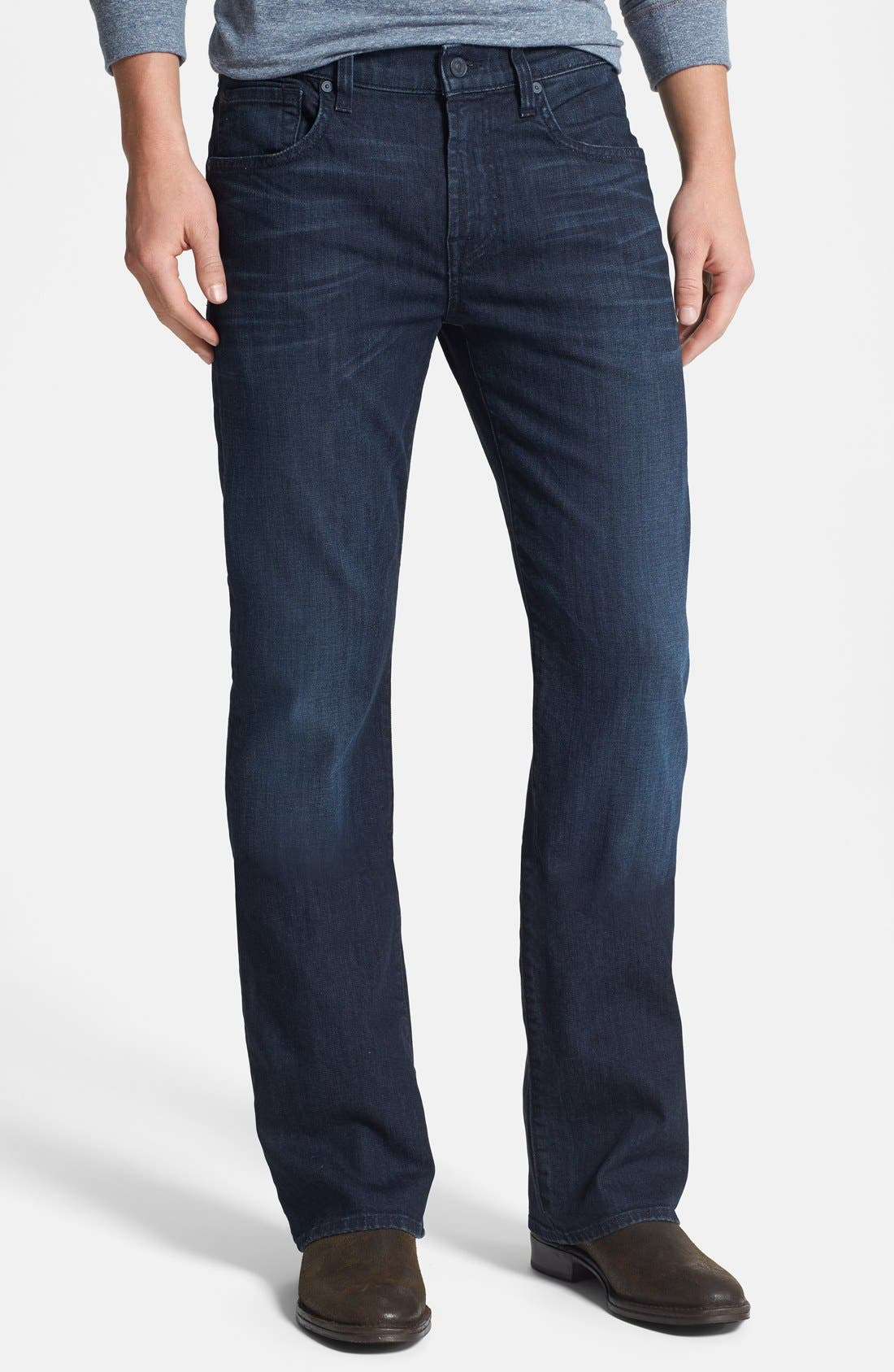 Alternate Image 1 Selected - 7 For All Mankind® 'Brett' Bootcut Jeans (Sunset Hill Blue) (Online Only)