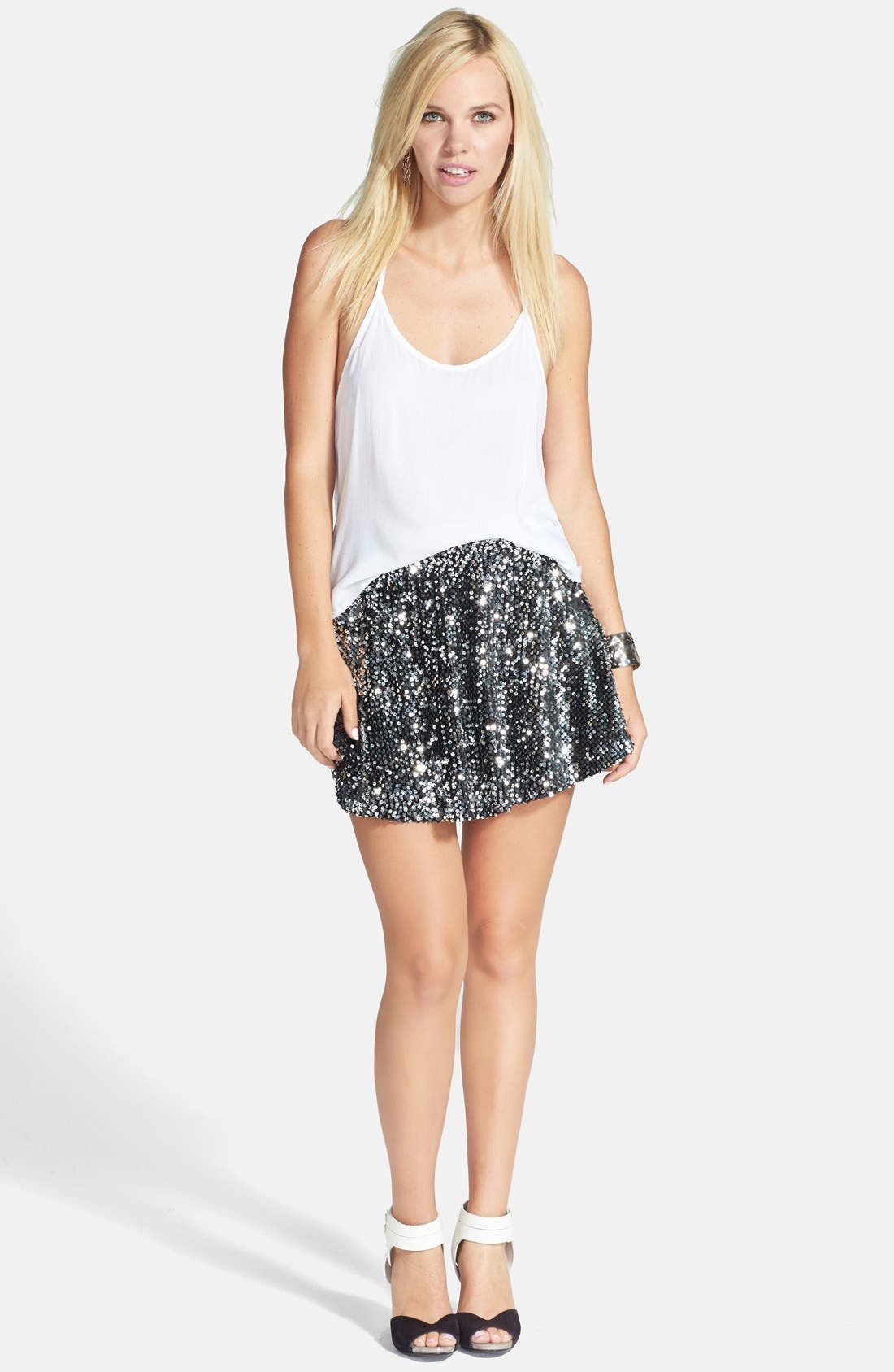 Alternate Image 5  - JOA Sequin Skater Skirt
