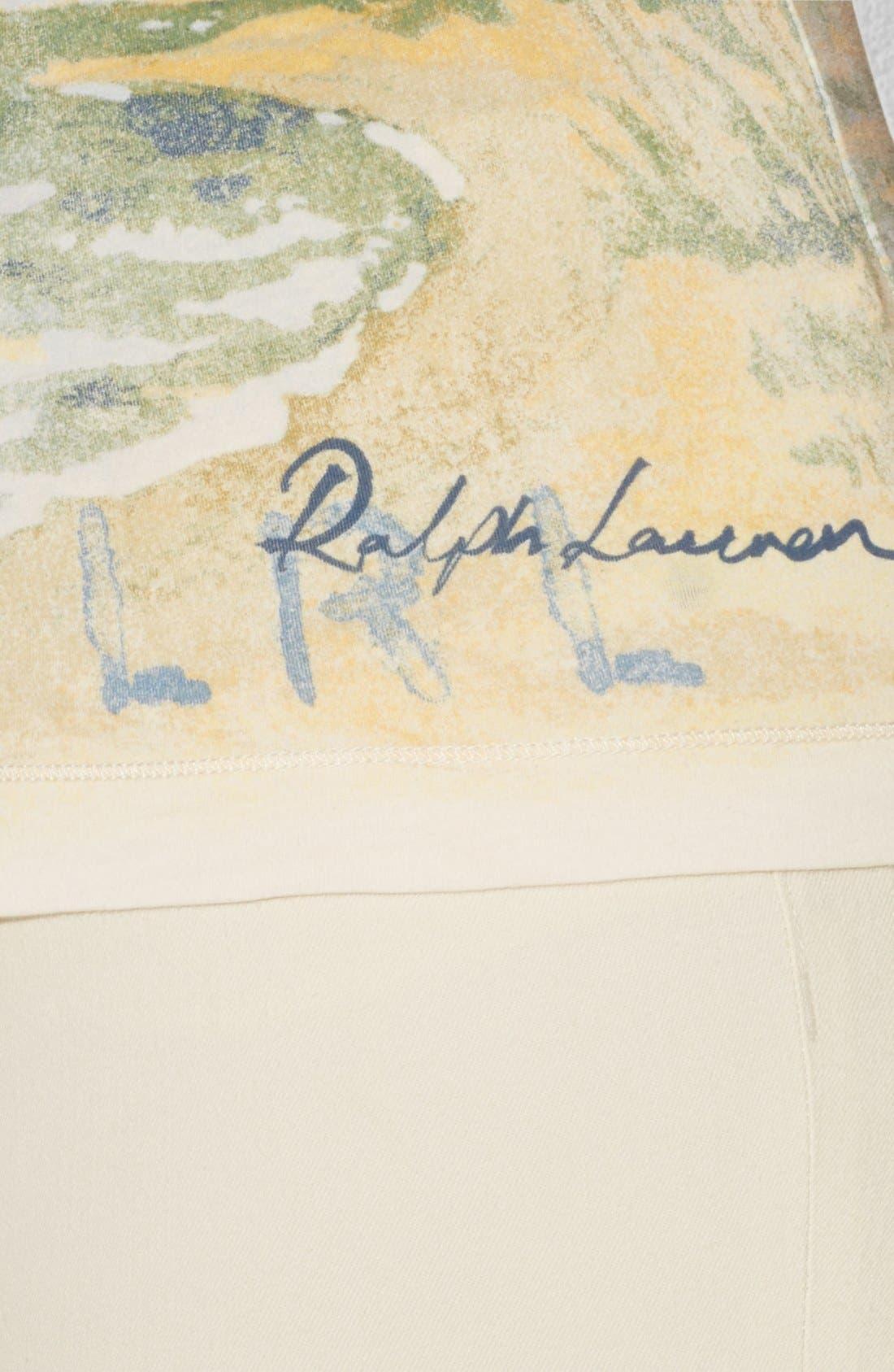 Alternate Image 3  - Lauren Ralph Lauren Landscape Print Tee (Plus Size)